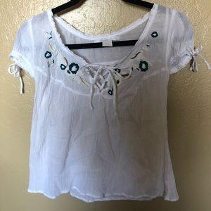 Light white summer shirt